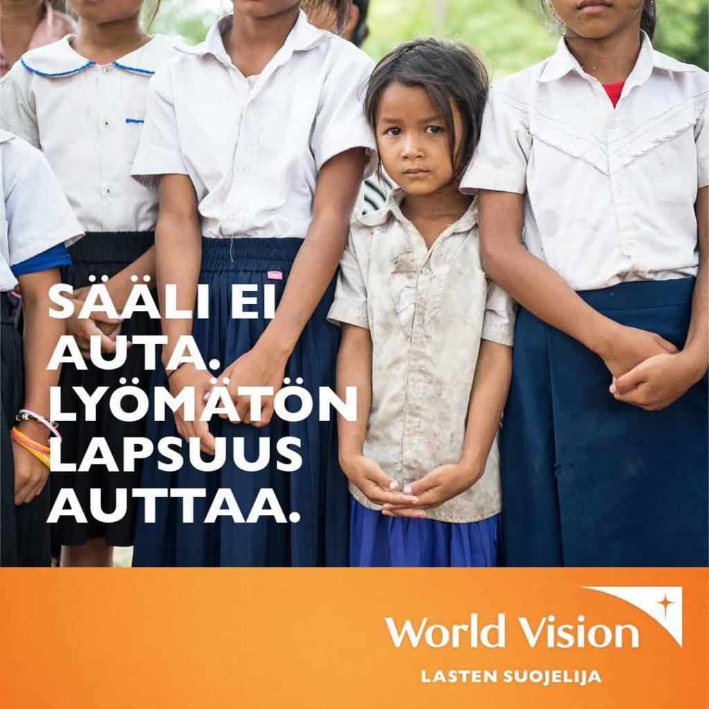 world vision banneri tyttö